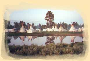 National rendezvous mountain man, black powder, trappers and traders camp.