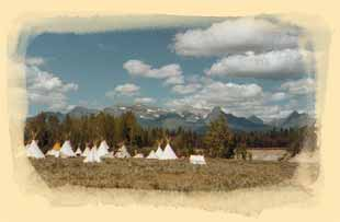 Rocky Mountain National Rendezvous western frontier Booshway trade camp and black powder events.